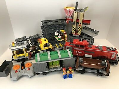 Lego 3677 Red Cargo Freight Train Works Great W Instructions