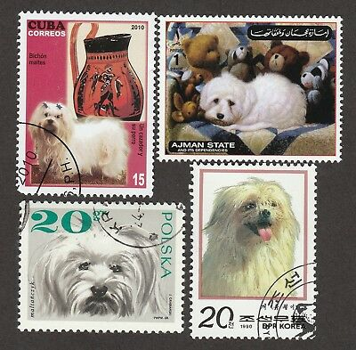 MALTESE ** Int'l Dog Postage Stamp Collection **Unique Gift Idea**