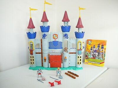 FISHER PRICE IMAGINEXT KING ARTHUR castle + knight cannons weapons + booklet