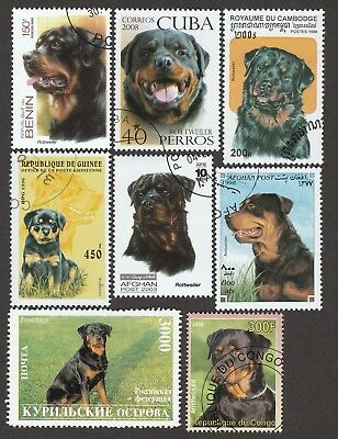 ROTTWEILER ** Int'l Dog Postage Stamp Collection ** Unique Gift Idea**