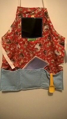 zookies childrens apron with measuring spoons and recipe booklet