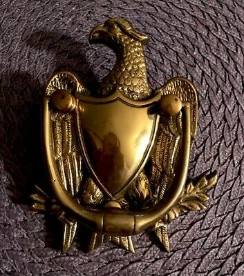 Large Brass Eagle Door Knocker - Great Early(1913) Seal of the United States