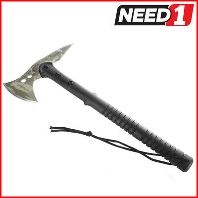 Bush Axe with Spike End and Long Handle in Nylon Protective Case