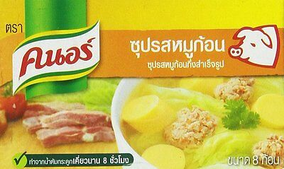 Thai Knorr Pork Stock Soup Seasoning Cubes 80g, Product of Thailand
