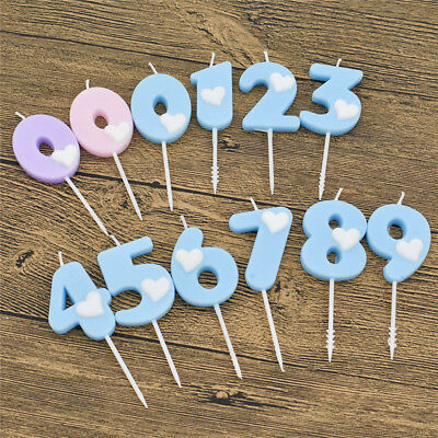 0-9 Number Cake Candles Kid's Birthday Cake Cupcake Toppers Party Supplies