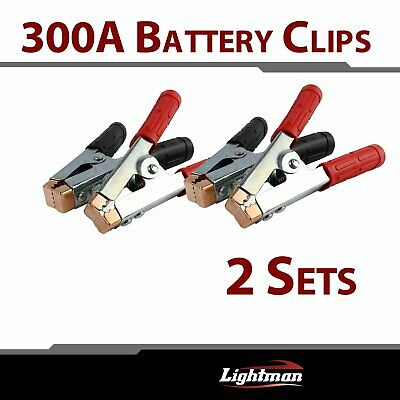 4pcs Car Red&Black Battery Clip Jump Starter Charger Clamp Alligator Cable Wire