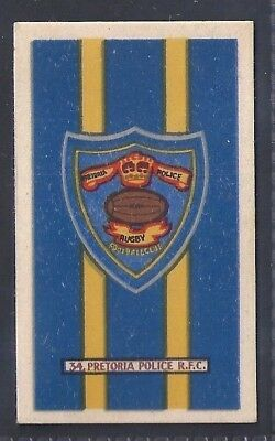 Kramers-Badges Of South African Rugby-#34- Pretoria Police - Congress
