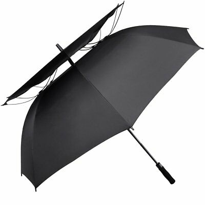 G4Free 62 Inch Windpoof Golf Umbrella Double Canopy Vented Large Waterproof for
