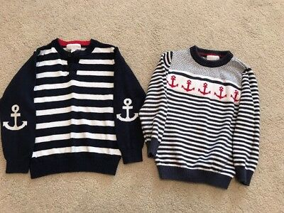 Two Boys The Little White Company Jumpers Age 4- 5 Years