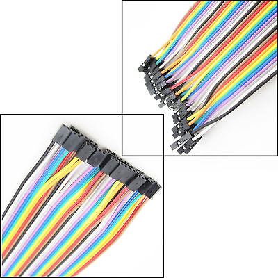 40PCS DuPont Jumper Connect Wire Male to Female 1P-1P 2.54mm Length 20CM ATF
