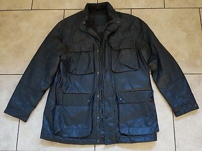 Mens Feraud Waxed Jacket Coat. Black. Size L. Quilted lining. RRP £379.00