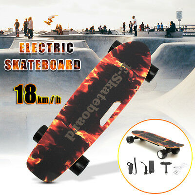 250W Electric Skateboard Wireless Remote Control Longboard Skate Complete Deck
