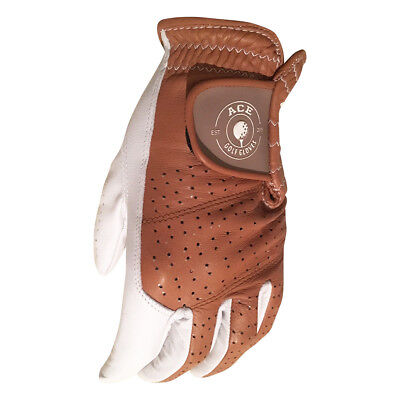 Cabretta Leather Players Golf Glove Brown