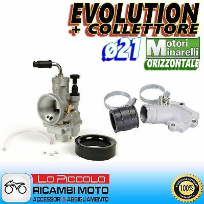 CARBURATORE EVOLUTION POLINI ø21 + COLLETTORE MALAGUTI F 12 50 DIGIT KAT - AIR