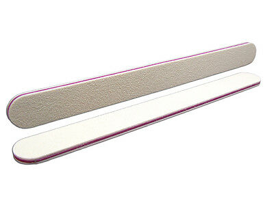 Nail Files File White Straight Grit 180/180 Bulk Discounts Made in Germnay
