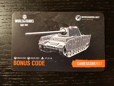 WORLD OF TANKS | WoT | Console XBOX PS4 Bonus Code PZ KPFW B2 740(F) + Gold  2200