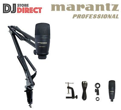 Marantz Professional Pod Pack 1 - USB Microphone with Broadcast Stand and Cable