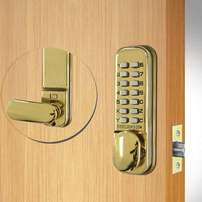 Codelocks CL155 Mortice Latch Brass