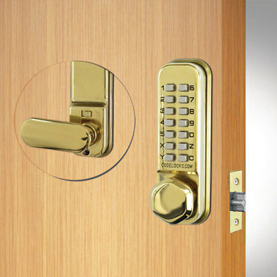 Codelocks CL255 Mortice Latch Brass