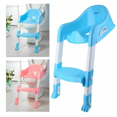 Baby Kids Toddler Potty Training Toilet Trainer Safety Seat Chair Step Ladder EQ