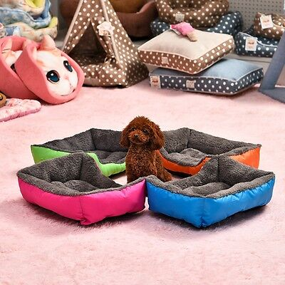 Pet Dog Cat Bed Cushion House Pet Soft Warm Kennel Dog Mat Blanket 5 Colors C@N