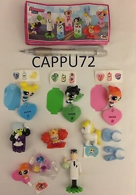 THE POWERPUFF GIRLS-COMPLETA 8 PZ+8 BPZ da SE318 a SE325 kinder sorpresa 2017/18