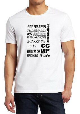 Gamer Quote GG Wp Carry Me Bronze Noob Feeding Smurf Fruit Of The Loom T-shirt