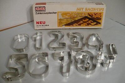 Kaiser Backform Zahlenausstecher Number Cookie Cutters 611464 Vintage Germany