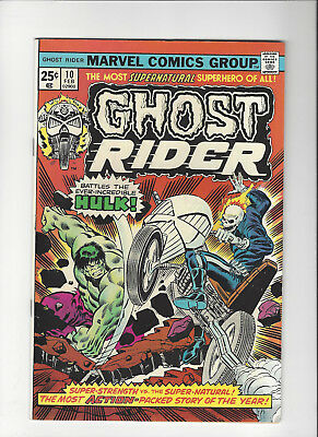 Ghost Rider #10 (1974) VF+ New Original Owner Marvel Comics Collection
