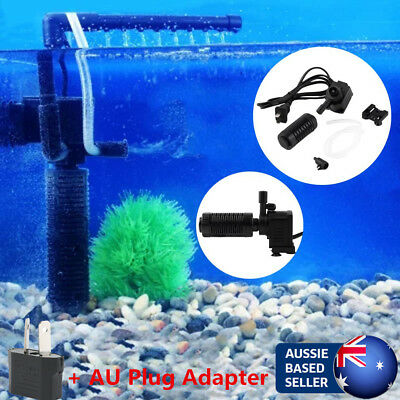 200l/h 2W Aquarium Pond Internal Filter for Fish Tank Submersible NEW AU@