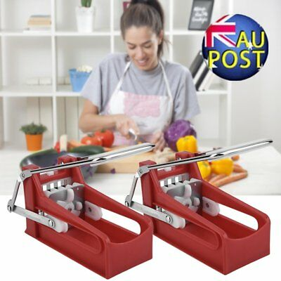 Stainless French Fries Slicer Potato Chipper Chip Cutter AU@