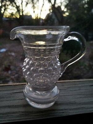 blown three mold early glass creamer continental ca 1825 antique btm