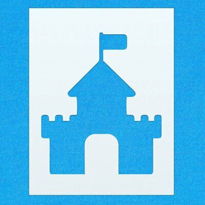 Castle Historical Building Mylar Airbrush Painting Wall Art Crafts Stencil 2