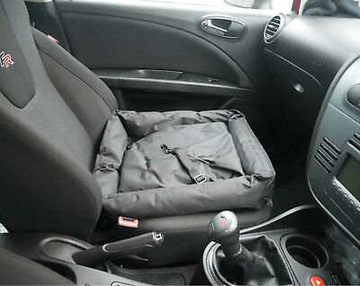 In Car Dog Bed Pet Carrier With Safety Clip Water Resistant Travel Seat Cushion