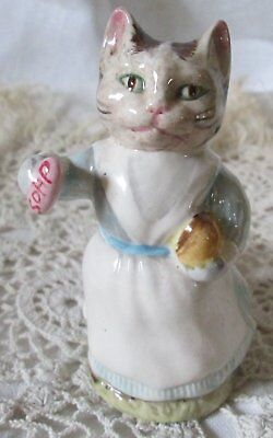 Figurine Chat Miniature Beswick 1961 Cat Beatrix Potters Figurin  H 9,5Cm