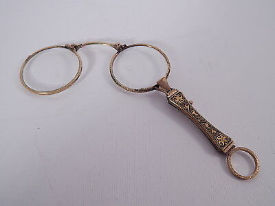 Antichi Occhiali Lorgnette Di Fine 1800 Dorati Antique Glasses Art Nouveau