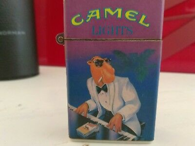 1992 PackLite III LIGHTER  'Camel Lights  w/tux Joe (left-side) Playing Piano'