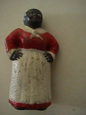 Very Early Hubley Black Aunt Jemima Mammy Cast Iron Paperweight RARE excellent
