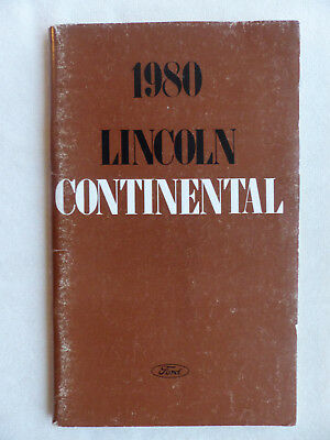 1980 Lincoln Continental - US-Betriebsanleitung / operation manual 11.1979