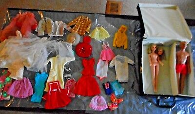Lot Of Vintage Barbie Doll Francie & Ken With Tagged Outfits 1960-70's