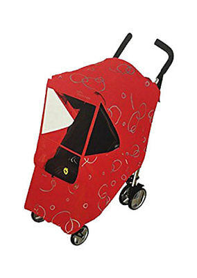Hippo Circle Design Collection Universal Stroller Weather Shield - Red