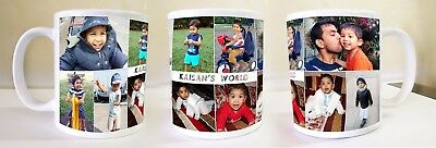 Personalised ceramic mug printed cutom Gift photo text tea coffee your image