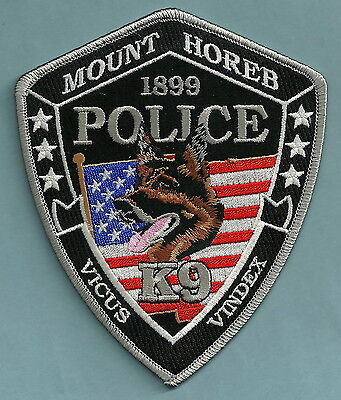 Mount Horeb Wisconsin Police K-9 Unit Patch