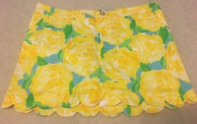 NWT Lilly Pulitzer Colette Skort in Sunglow Yellow First Impression Size 16 XL