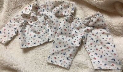 American Girl Doll Molly's Friend Emily's Floral Flannel Pajamas Pjs Outfit Set