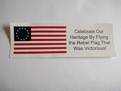 PATRIOTIC BUMPER STICKER: Display the First Flag of Rebellion