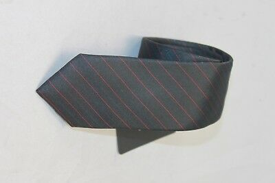 Hugo Boss black label tie Charcoal with red stripes 6cm $95