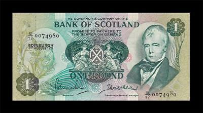 "1971 Bank Of Scotland 1 Pound ""rare Date"" (( Gem Unc ))"