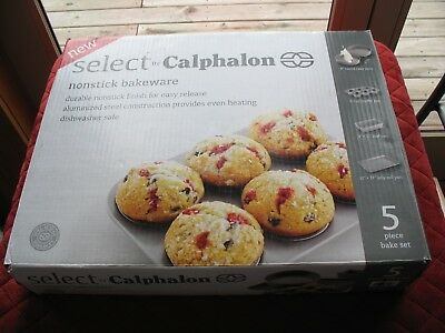 Select By Calphalon Nonstick Bakeware, 5 Piece Bake Set - Nib