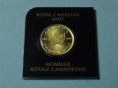 RARE 2016 SOLID GOLD MAPLEGRAM ROYAL CANADIAN MINT GOLD MAPLE 1 GRAM No A0132605